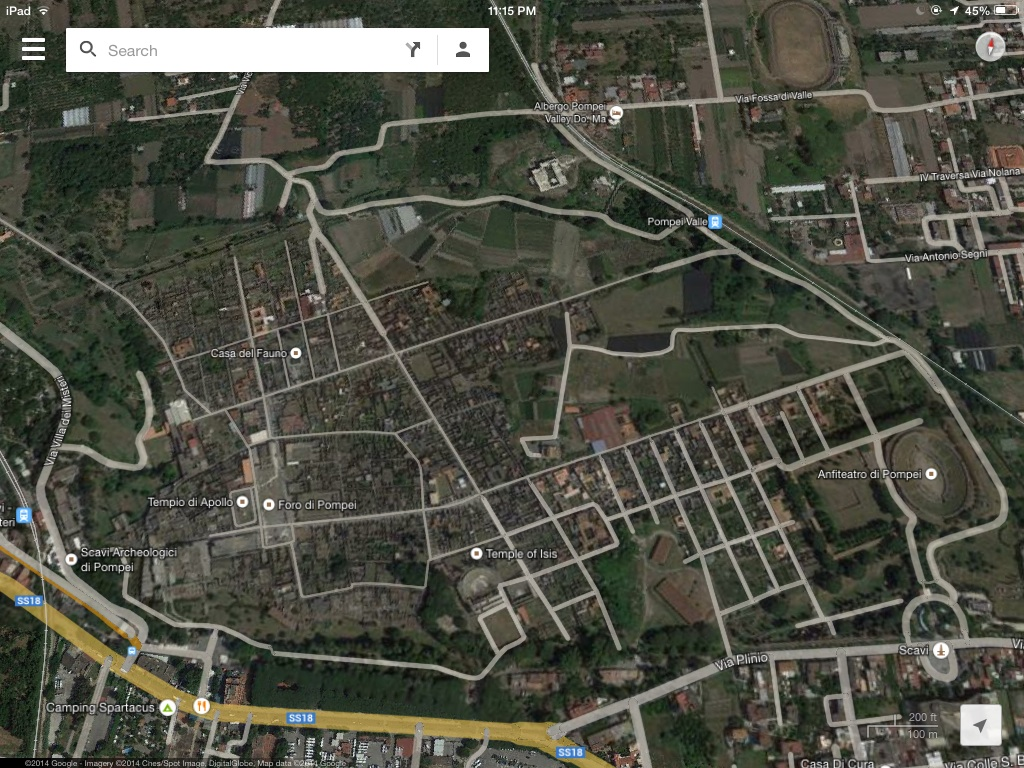 Pompeii Map Google This is The Google Map Image